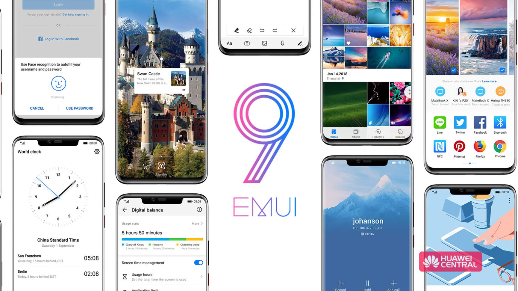 Huawei P20/P20 Pro and Mate 10/10 Pro EMUI 9 0 update now