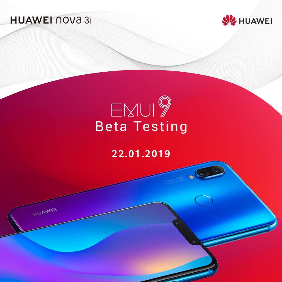 Huawei will start Nova 3i EMUI 9 beta program in Nepal from January