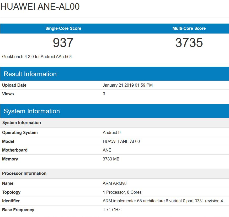 Huawei P20 Lite spotted online running Android 9 Pie/EMUI