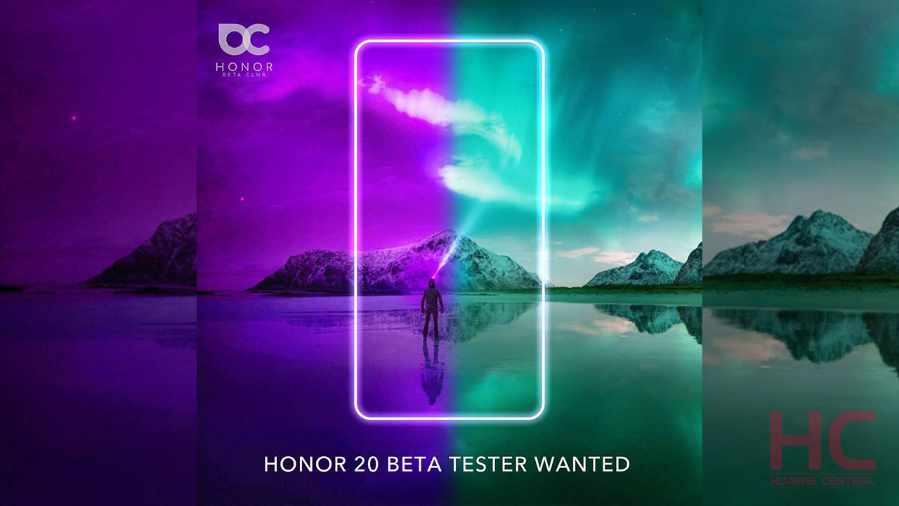 Honor 20 series early tester recruitment begins, anyone can