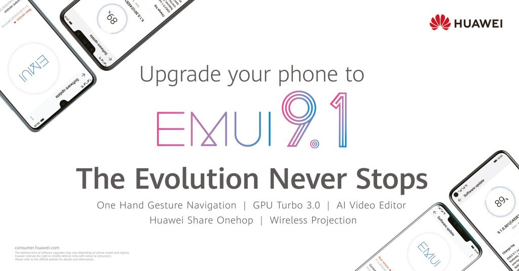 What is EMUI 9 1? List of new features, and compatible