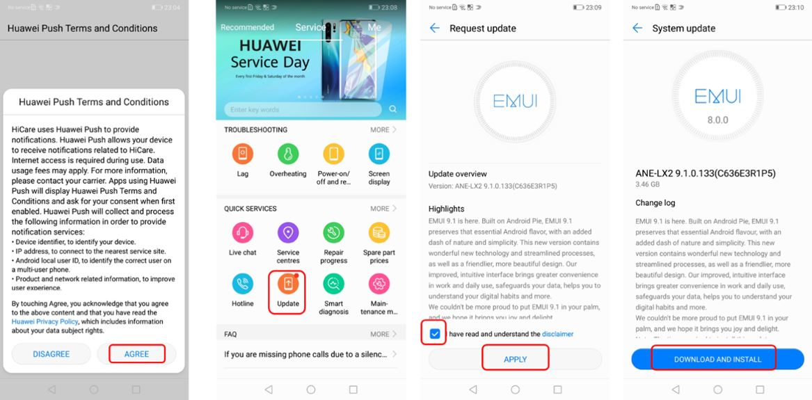 How to download and install Android 9 0/EMUI 9 1/Android Pie using