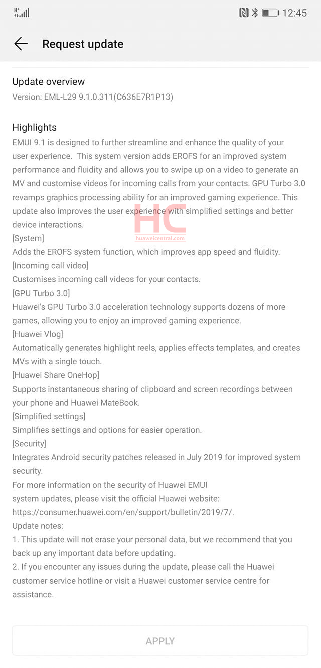 Breaking: EMUI 9 1 rolling out for Huawei P20 and P20 Pro