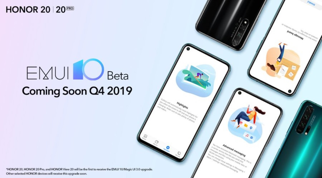 EMUI 10 0/Magic UI 3 0 beta will be ready in Q4 for the