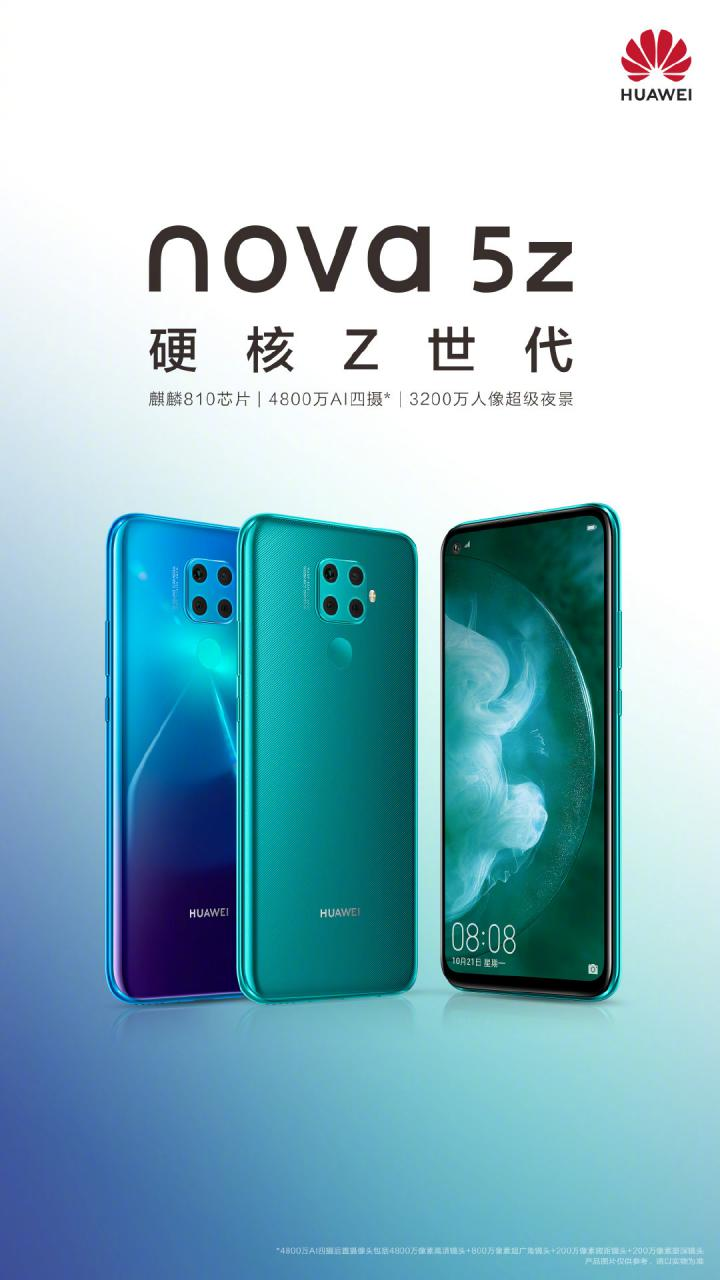 Huawei nova 5z t blues