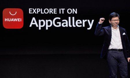 Huawei CEO Richard Yu presenting AppGallery