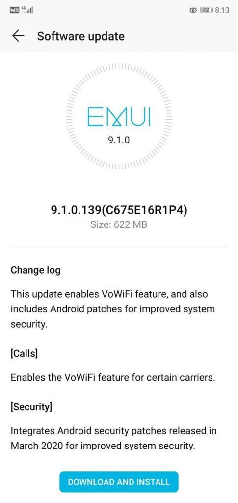 Honor 9N VoWiFi update