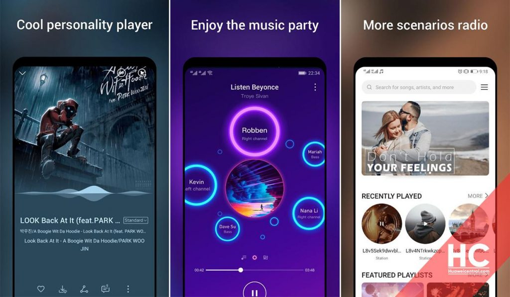 Huawei Music App Interface