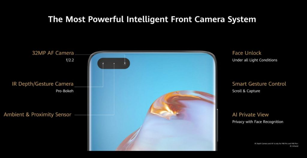 Huawei P40 Series Powerful Front Camera System Huawei