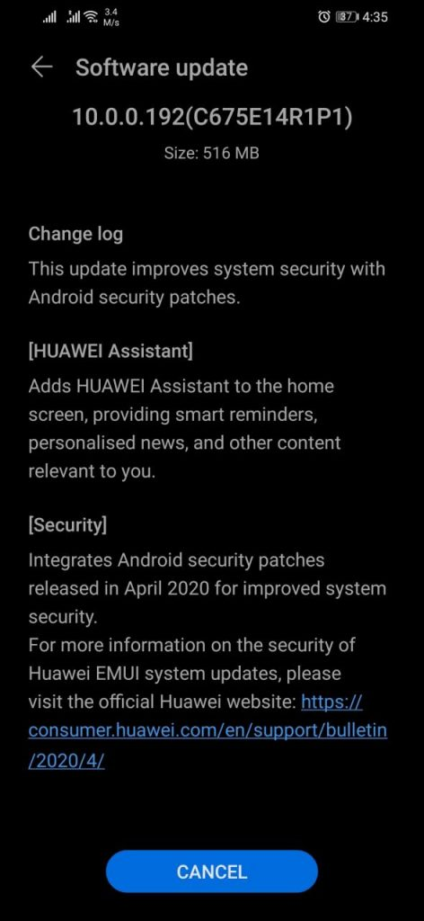Honor 8X Huawei Assistant update