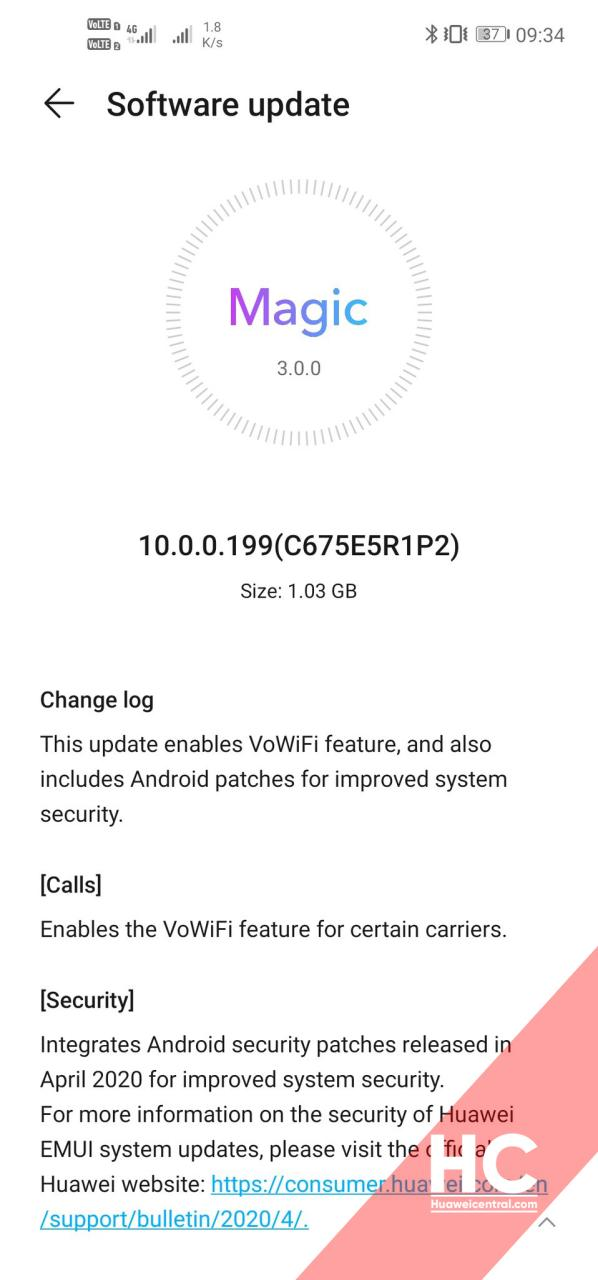 VoWiFi update for Honor View20 rolling out with Huawei Assistant and Smart Charging [India]
