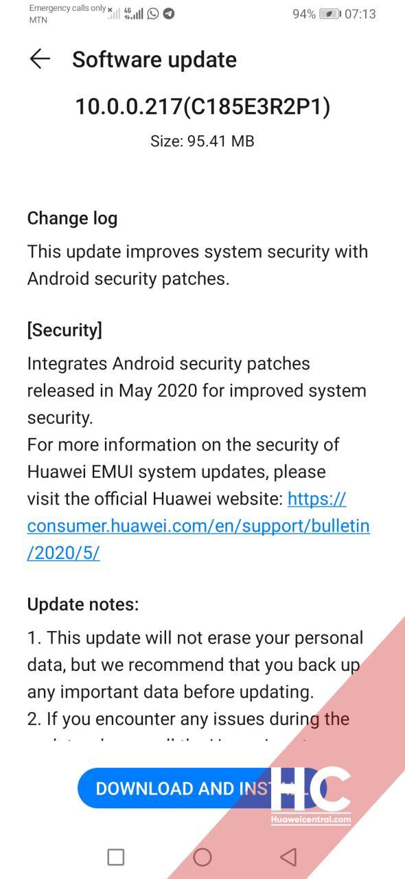 Huawei Y9s May 2020