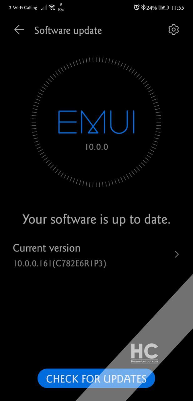 Huawei P20 Pro EMUI 10 Three UK