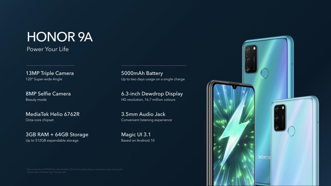 Honor 9A Features