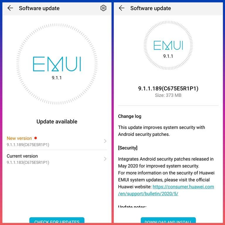 Honor 9X Pro May 2020 Security Patch