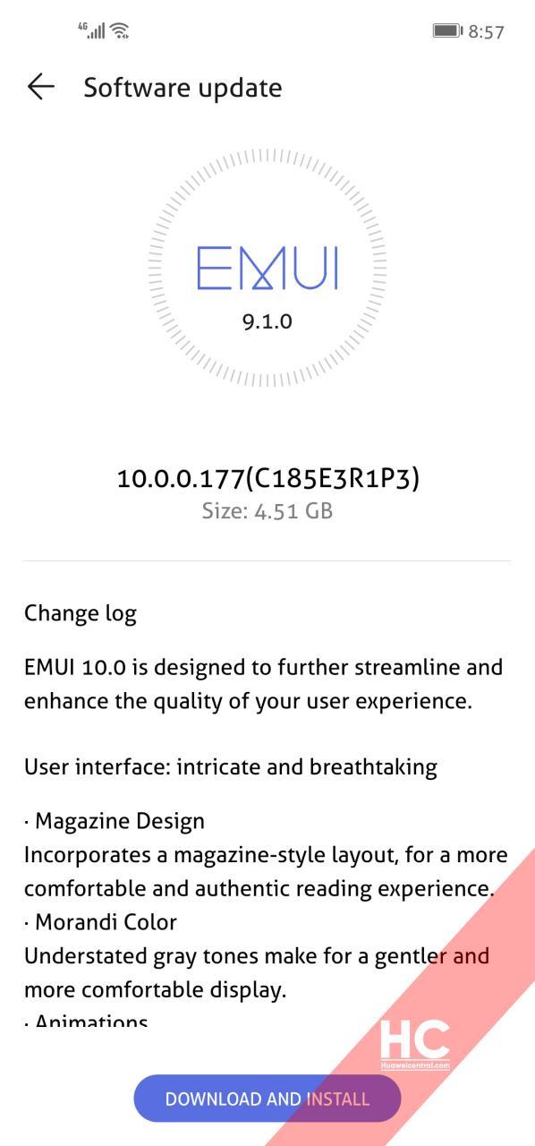 Huawei Nova 4 EMUI 10 screenshot