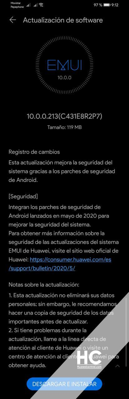 Huawei P30 Lite May 2020 Security Update