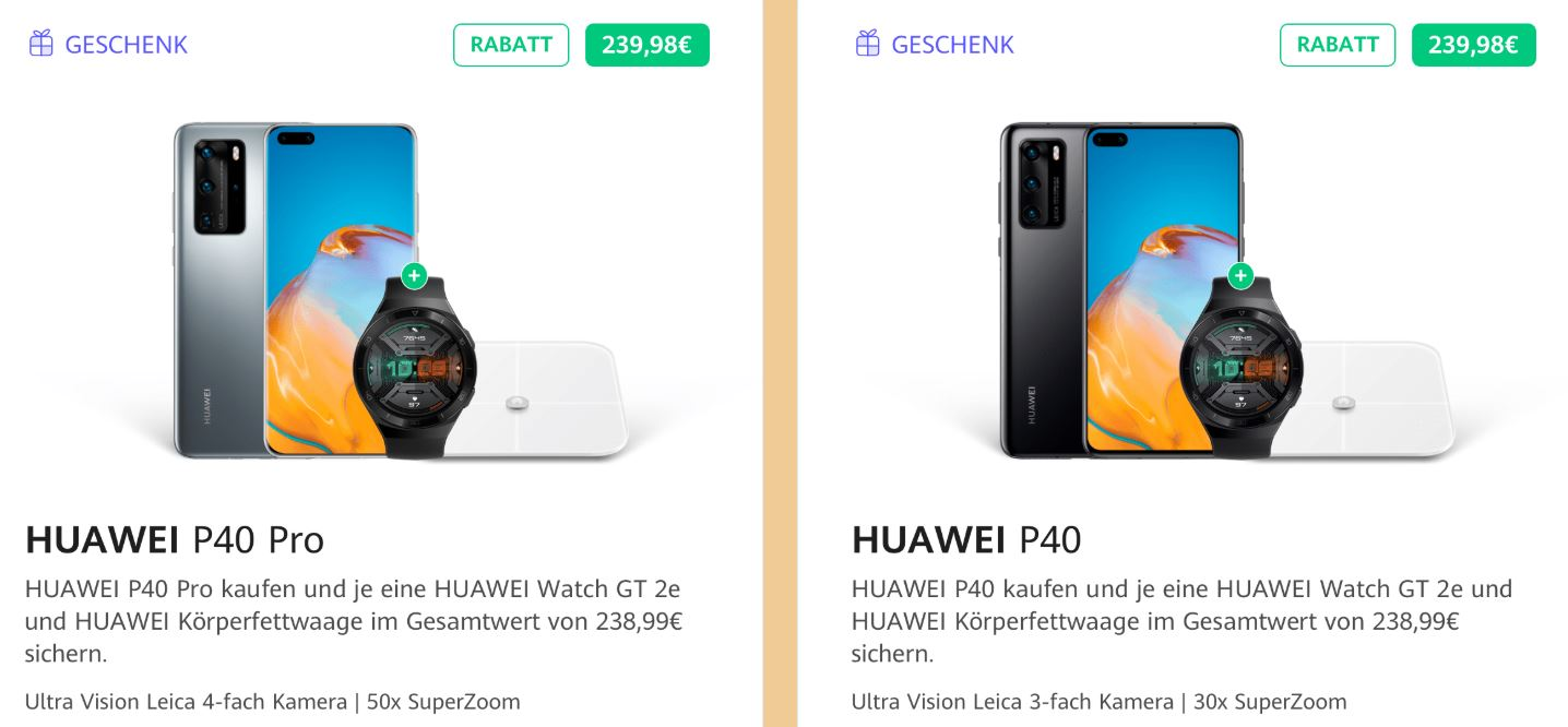 Huawei P40 Pro and P40 Germany