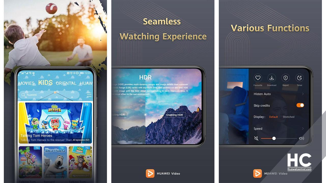 Huawei Video updated to app version 8.6.10.310, brings EMUI 11 support (September 21, 2020)