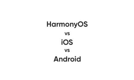 Huawei harmonyos vs ios vs android