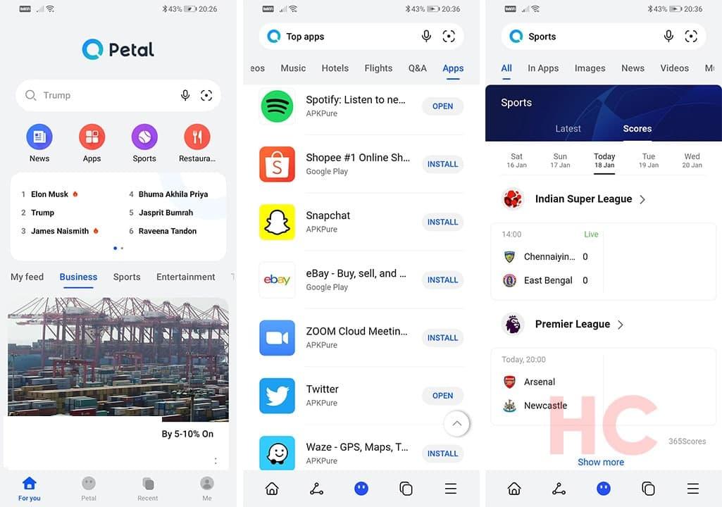 Huawei Petal Search Home Page