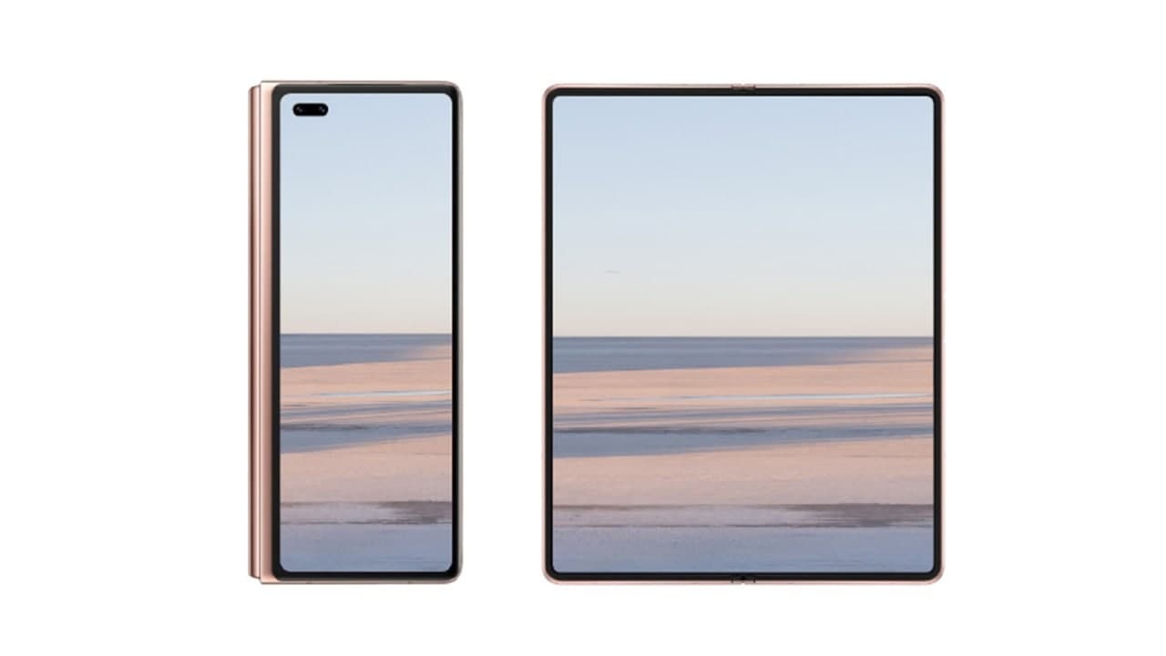 Huawei Mate X2 animated image confirms inward folding design and two displays - Huawei Central