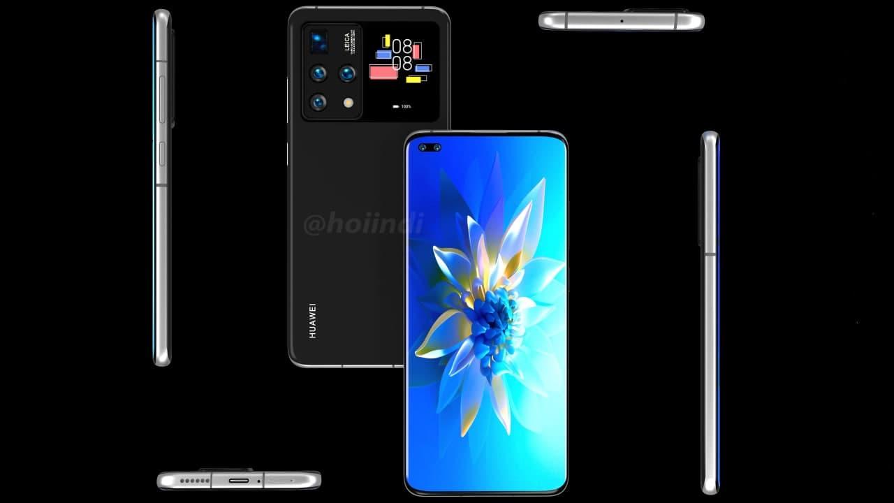 Telefone Huawei com display traseiro ao lado da câmara parece muito interessante 4