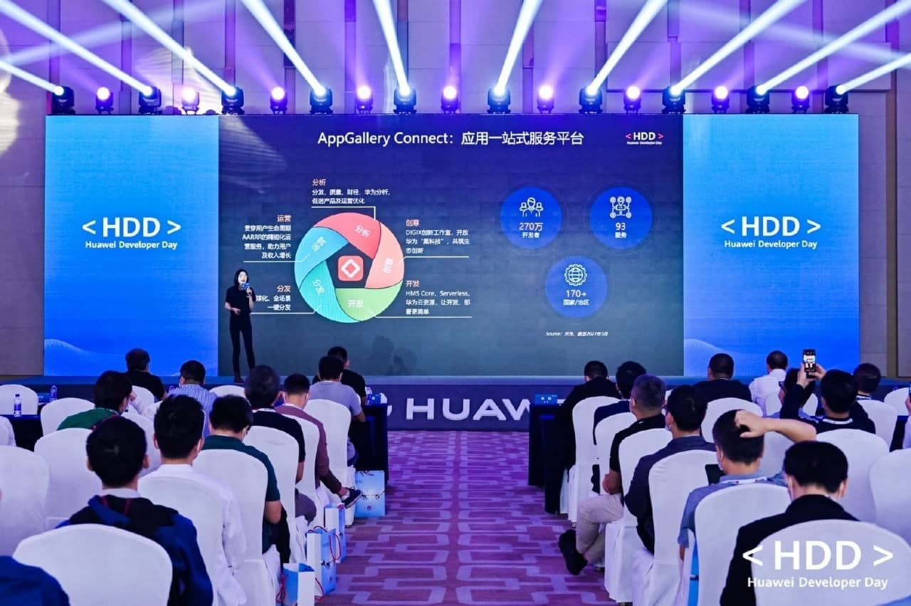Huawei AppGallery Connect covers 170+ countries, provides 93 services and more