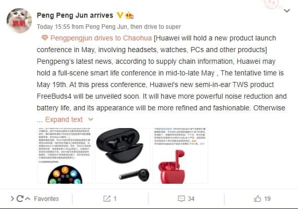 Huawei FreeBuds 4 e Watch 3 com Hongmeng OS serão lançados a meados de maio 1