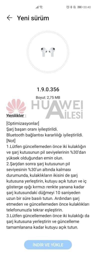 Melhorias de carregamento e conexão Bluetooth lançadas para Huawei FreeBuds Pro 1