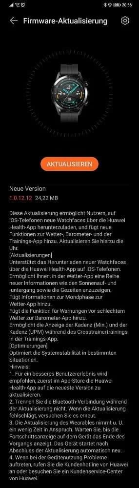 Atualização de abril de 2021 para Huawei Watch GT 2 traz melhorias de sistema 2