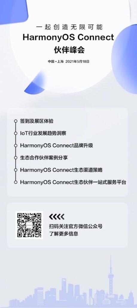 Huawei HarmonyOS Connect Partner Summit em Xangai marcada para 18 de maio 2