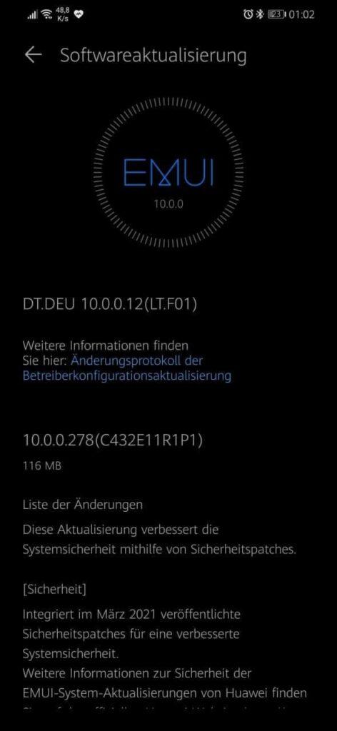 Huawei Mate 20 Lite e P smart Z começam a receber atualização de segurança de março de 2021 1