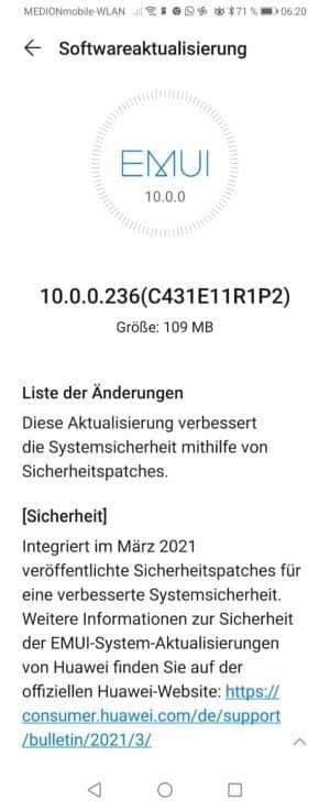 Huawei Mate 20 Lite e P smart Z começam a receber atualização de segurança de março de 2021 2