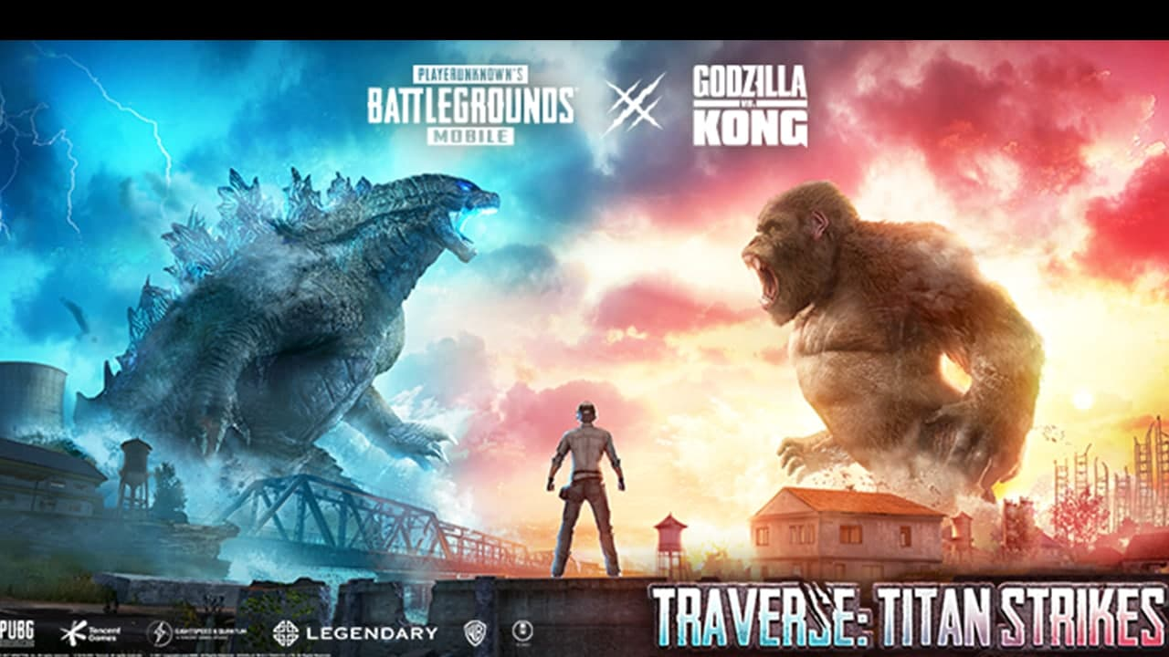 Download PUBG Mobile: Latest PUBG Mobile 1.4 Global version APK featuring Godzilla vs Kong