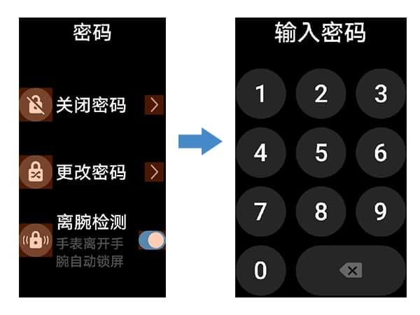 Huawei Watch Fit Lock screen