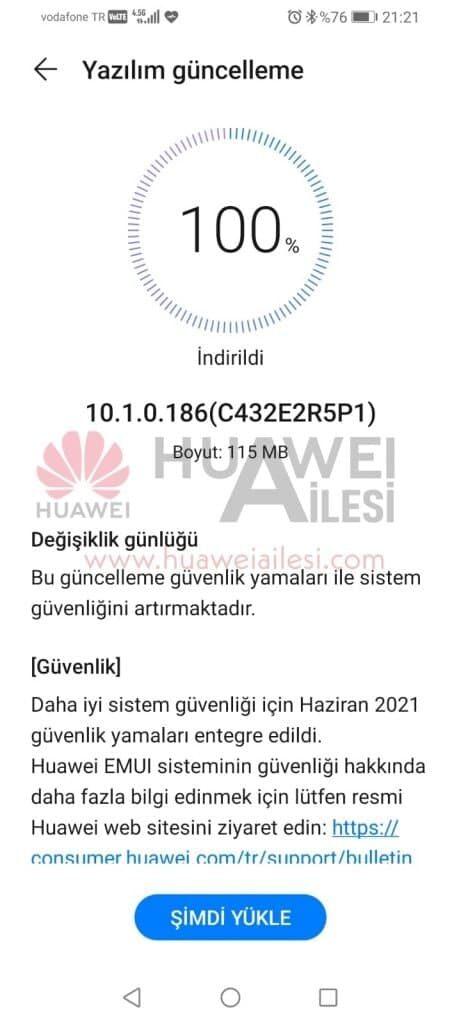 Huawei P Smart S June 2021 security update