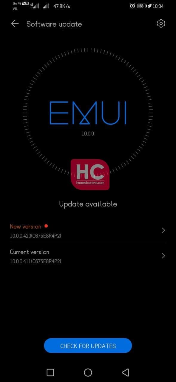Huawei Y9 Prime 2019 (EMUI 10) getting June 2021 security update