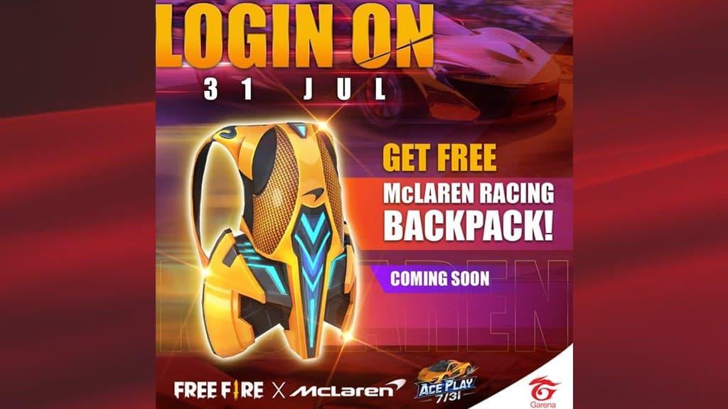 McLaren Racing Backpack