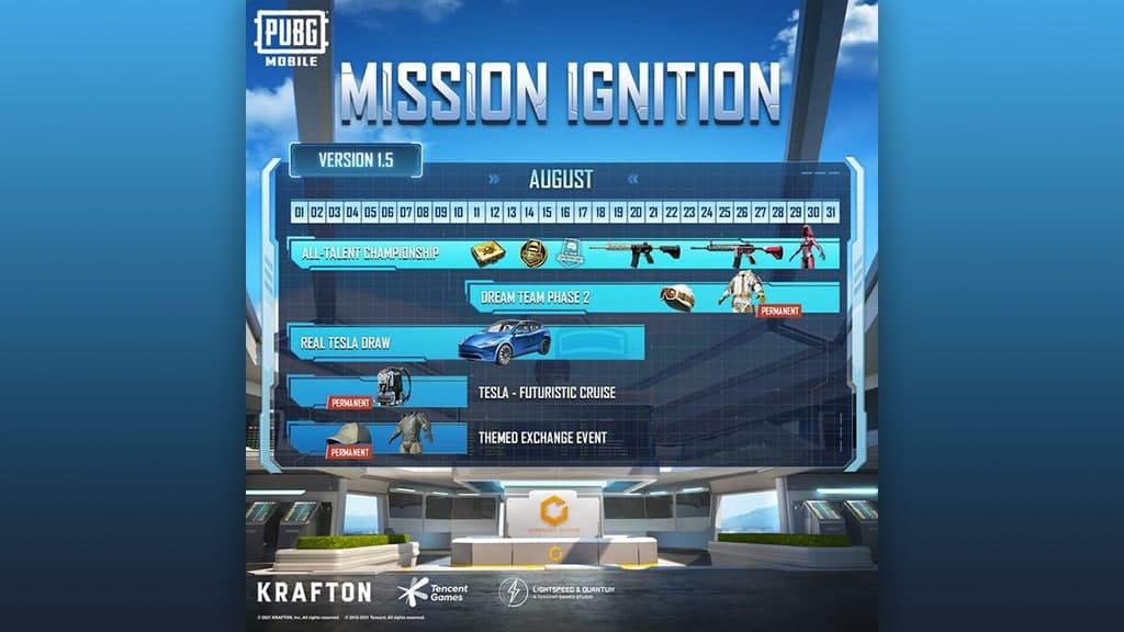 PUBG Mission Ignition August