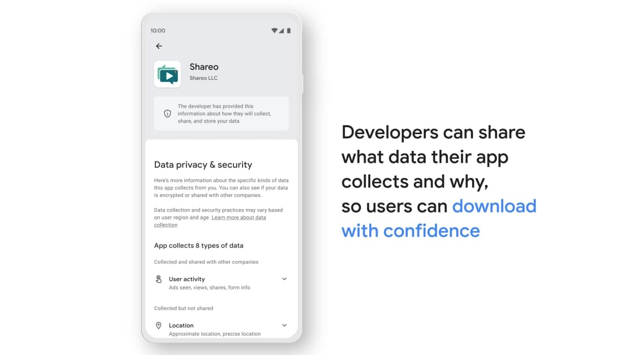 Google Play Store Safety Section cause