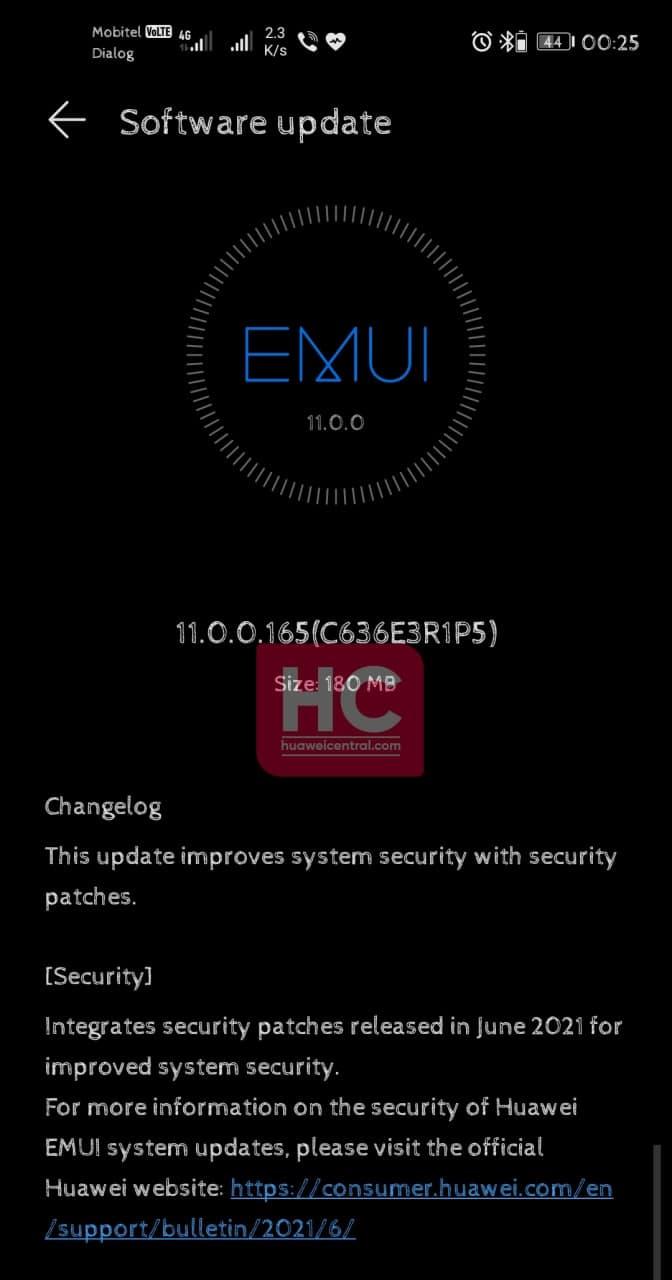 Huawei Nova 5T June 2021 update