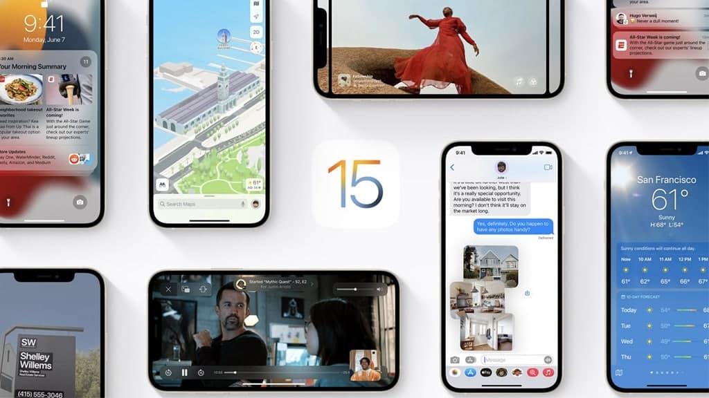 Apple iOS 15 Update