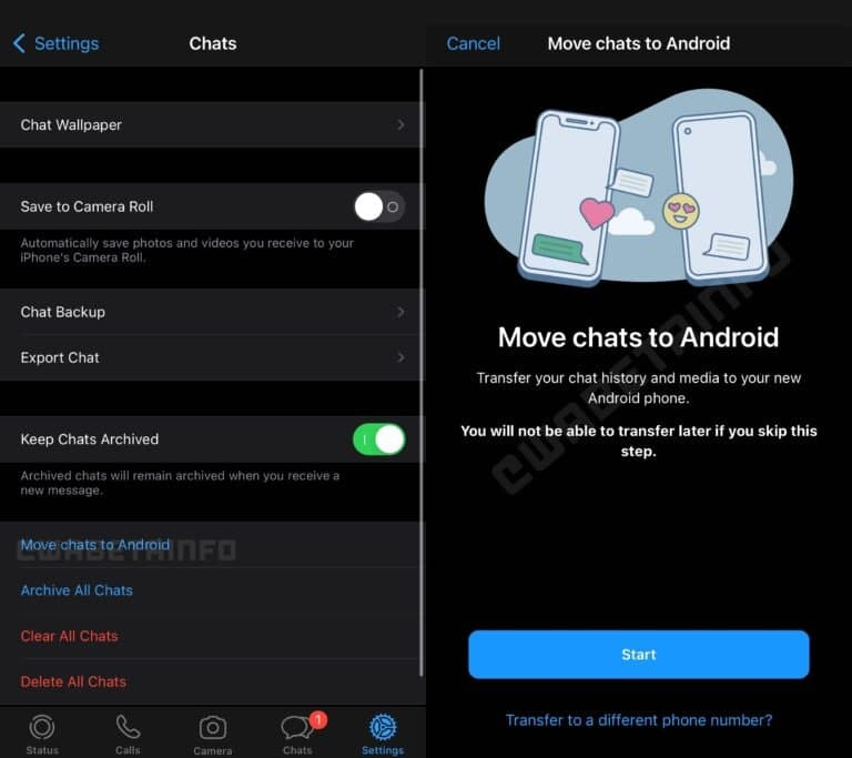 WhatsApp Chat Migration From iOS to Android