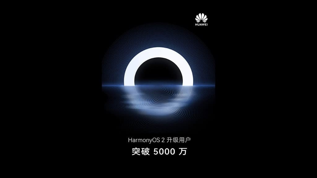 HarmonyOS 50 million
