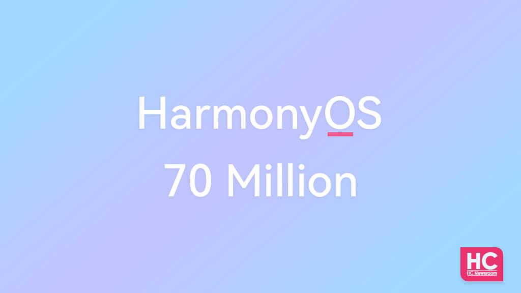 harmonyos 70 million installation