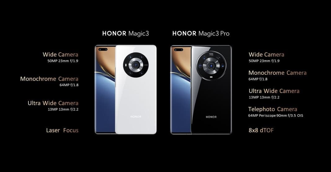 Honor Magic 3 and Magic 3 Pro camera