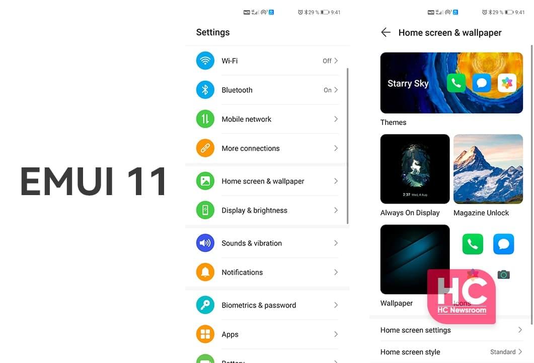 Huawei EMUI 11 AOD