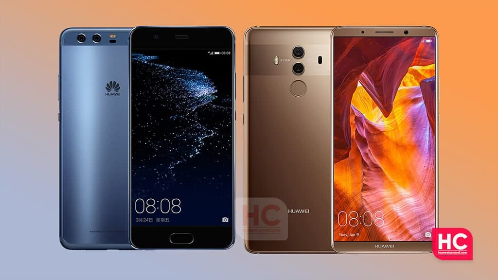 Huawei p10 and Mate 10 Pro