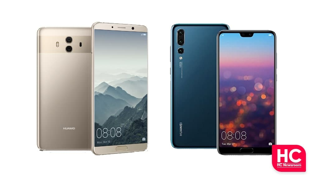 Huawei Mate 10 and P20 Pro